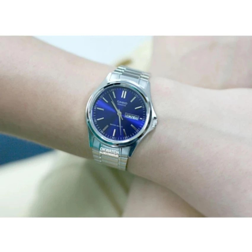 Đồng hồ nam dây kim loại Casio chính hãng Anh Khuê MTP-1239D-2ADF