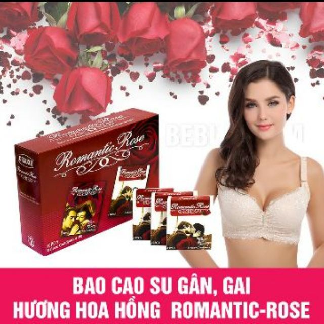 Combo 5 hộp (50 chiếc) bao cao su romantic rose
