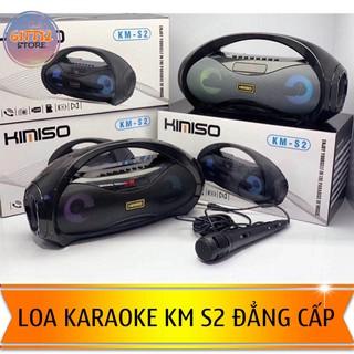 Loa Kaoraoke Xách Tay Kết Nỗi Bluetooth KM S2 4 Loa 2 Bass Cực Mạnh Tặng Kèm Mic