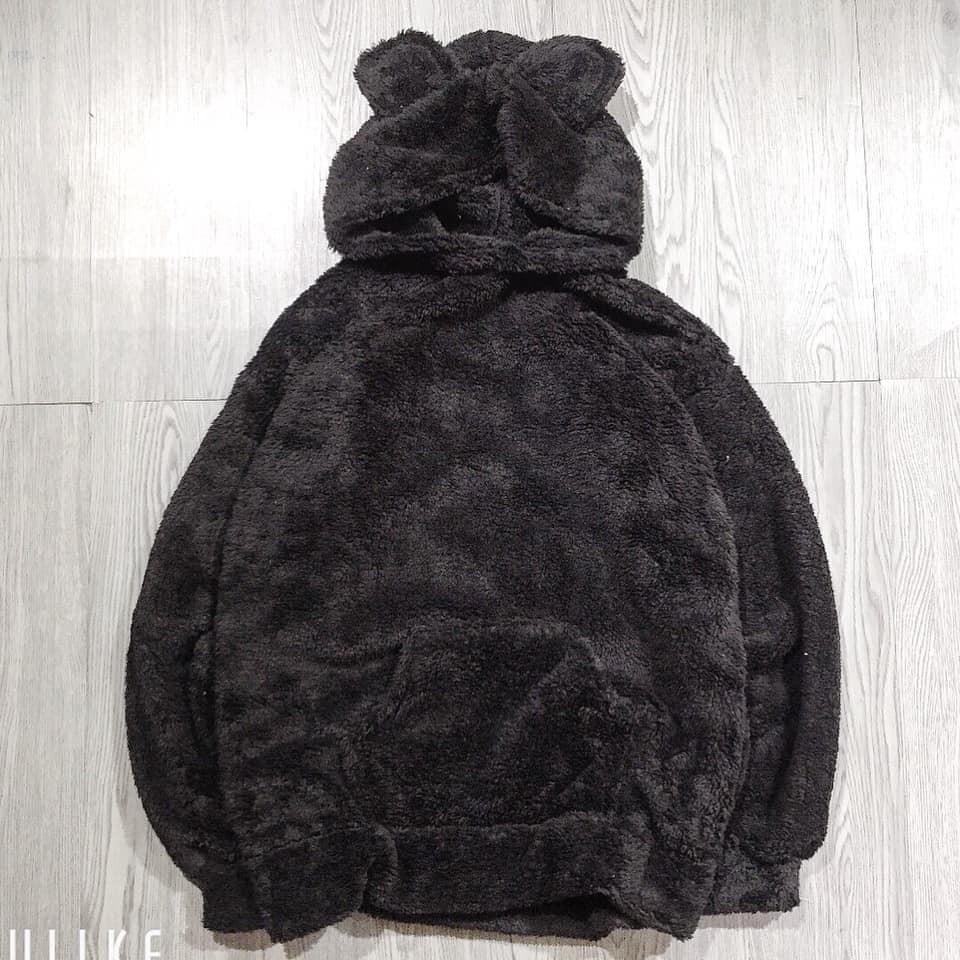 Áo nỉ lông mũ tai gấu nam nữ unisex SIÊU HOT