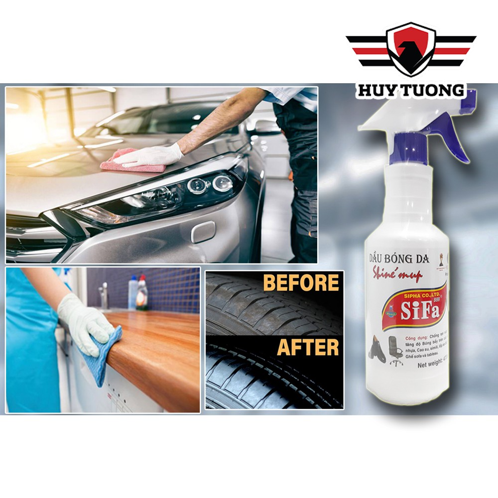 Dầu bóng da Sifa đa năng  FREESHIP  Dầu bóng da Sifa 473ml dùng cho tất cả các bền mặt da ô tô, ghế sofa