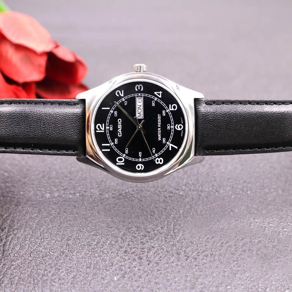 Đồng hồ nam dây da chính hãng Casio MTP-V006L-1B2UDF - Anh Khuê