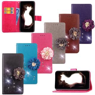 Lucky Four Leaves Diamond Wallet Stand Phone Case for Motorola Moto G7 Z4 PLAY power P40 one v