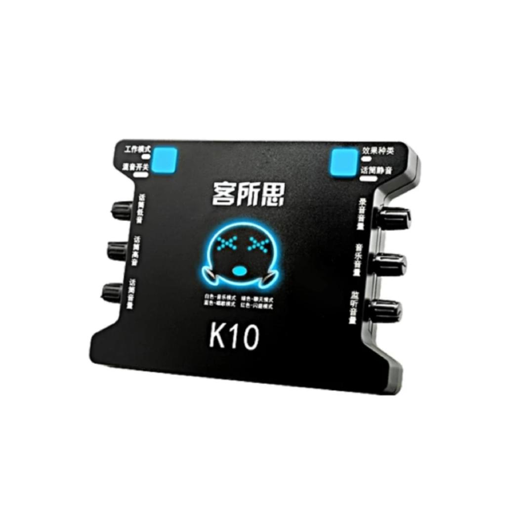 Card sound hát karaoke cắm ngoài XOX K10 [Tặng kèm] Cáp OTG cho Android -Gift dc2316.