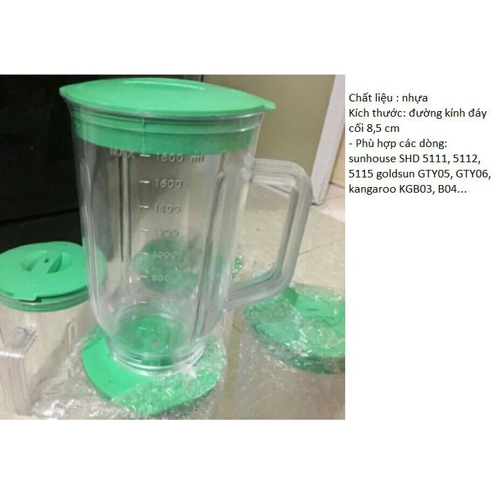 Cối Nhựa/Thuỷ Tinh sinh tố máy xay Sunhouse SHD5111 SHD5112 SHD5115