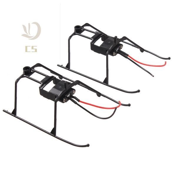CS♥ 2 Pcs/Set Landing Skid With Wire for WLtoys V911 4CH RC Helicopter Undercarriage