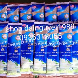 10 gói ensure cà phê/ lúa mạch/vani/trà xanh
