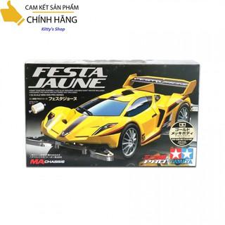 Xe đồ chơi tự lắp ráp có động cơ chạy pin Festa Jaune Gold Met Car – hãng Tamiya Nhật Bản