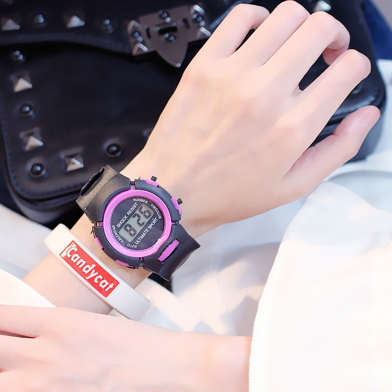 Đồng hồ trẻ em thời trang led LCD Shock Resist DH74 siêu yêu