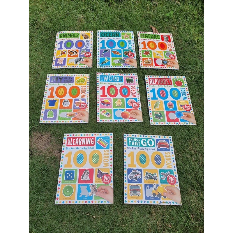 Combo 8 cuốn 100 words sticker activity books