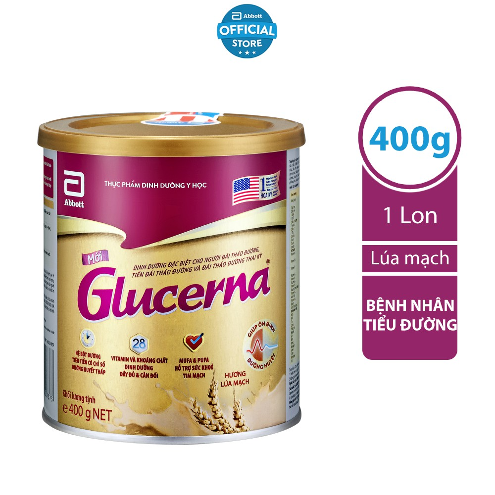 Sữa Bột Glucerna Lúa mạch 400g