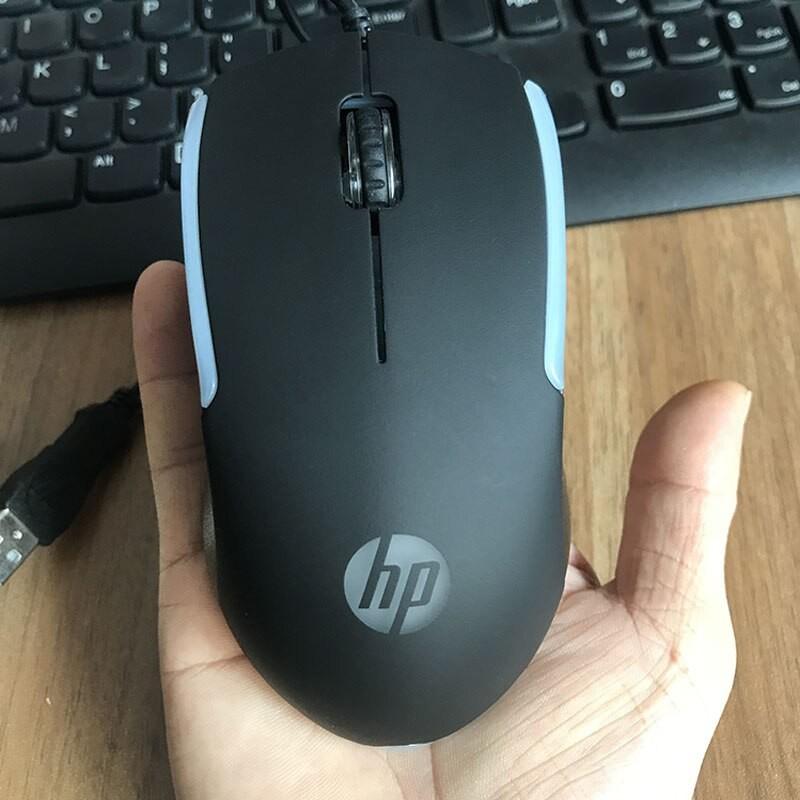 Chuột vi tính HP M160 led RGB cực đẹp - thích hợp dùng văn phòng / chơi game (Đen)