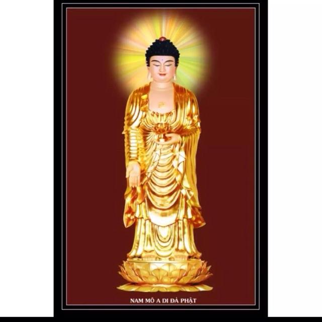 Tranh dán tường Phật 65x100 cm