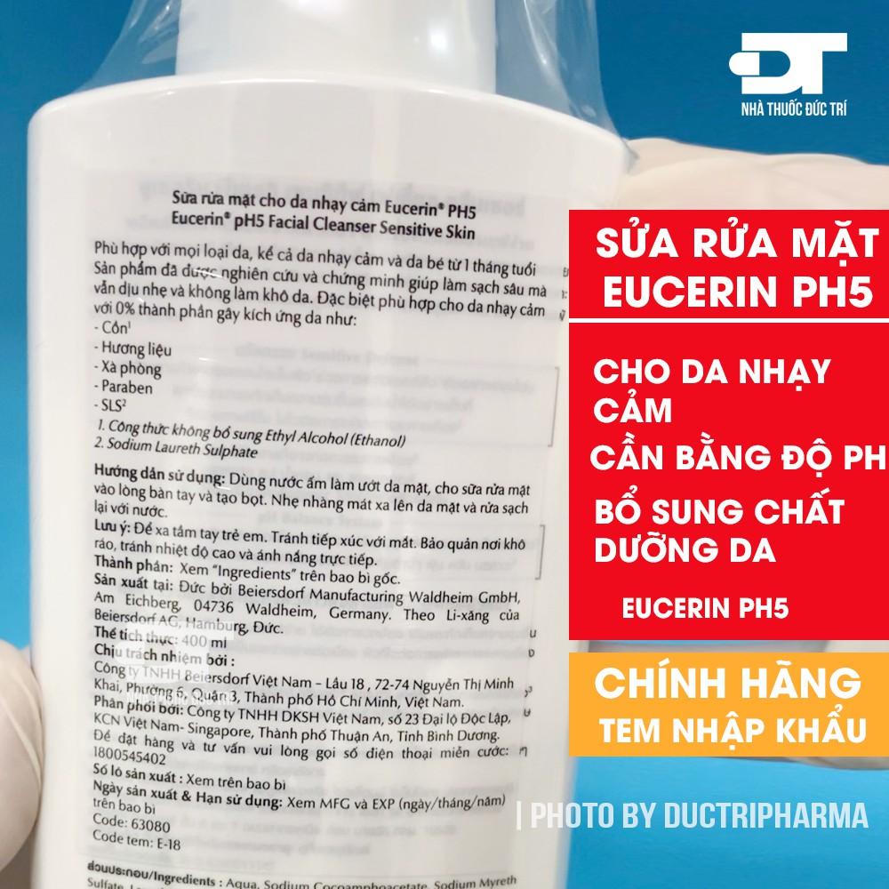Sửa Rửa Mặt Eucerin pH5 Cho Da Nhạy Cảm Facial Cleanser - Eucerin PH5 Facial Cleanser Sensitive Skin