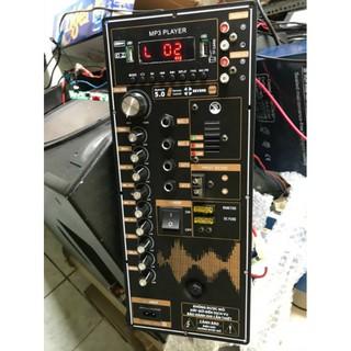 Combo Mạch Loa Kẹo Kéo Reverd Và Cặp Micro UGX 23 (Kim Cương) Kim Loại Sóng UHF Cao Cấp