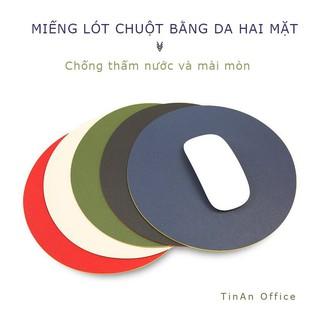 Miếng Lót Chuột Da ( Mouse Pad ) Hình Tròn, Sử Dụng Được 2 Mặt, Không Thấm Nước, Đường Kính 22 cm thumbnail