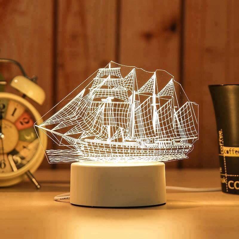 Đèn Ngủ 3D trang trí ánh sáng 3 màu trang trí phòng ngủ , làm quà tặng