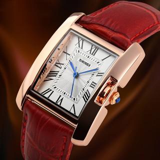 [Tặng vòng tay] Đồng hồ nữ SKMEI chính hãng SK1085 dây da cao cấp thời thượng