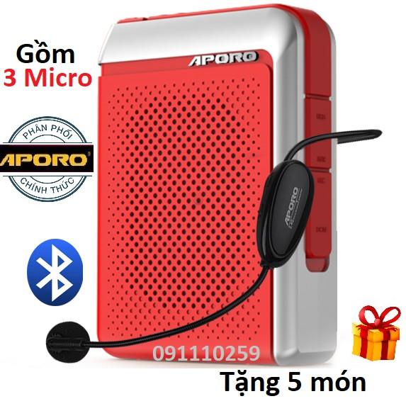 Loa máy trợ giảng  Aporo T18 công suất 30W  Bluetooth 5.0 không dây cao cấp (gồm 3 micro)