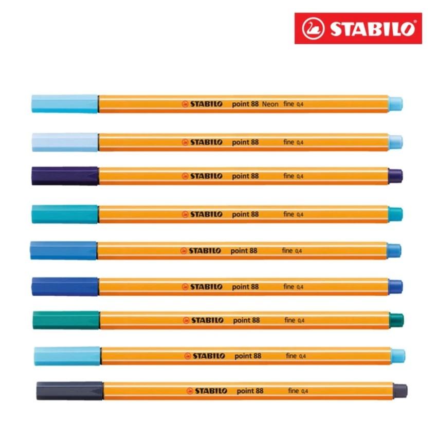 Bộ 9 cây bút kim STABILO Point 88 PT88/BU-C9