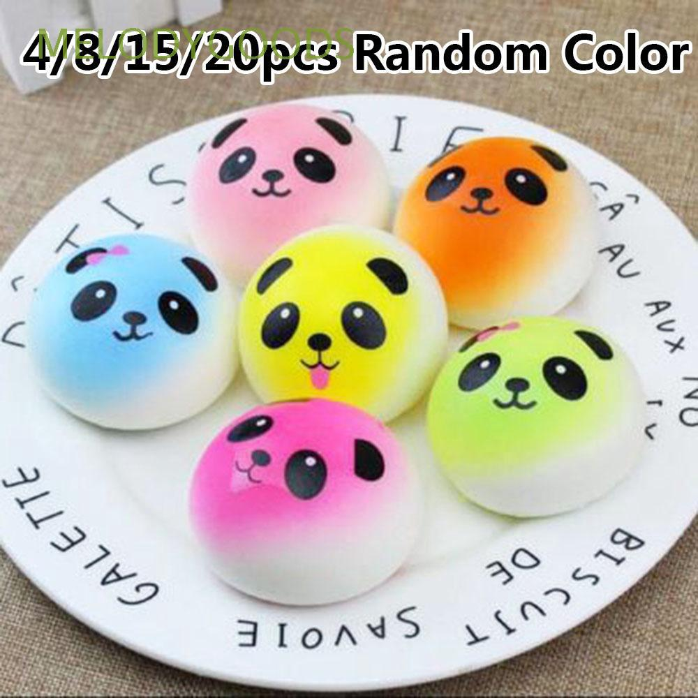 4/8/15/20pcs Random Color Stress Release Super Soft Random Color Scented Bread Cake Kawaii Squishies Lot
