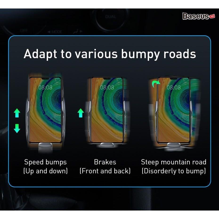 Bộ đế giữ điện thoại tích hợp sạc nhanh không dây dùng cho xe hơi Baseus Milky Way Electric Bracket Wireless Charger 15W