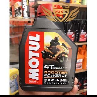(Giá Cạnh Tranh) Motul Scooter Power LE 5W40 800ml - Nhớt cao cấp FULL TỔNG HỢP cho xe tay ga thumbnail