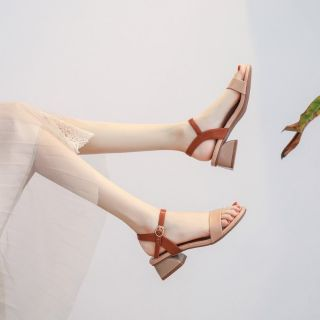 Dép sandan gót cao 5cm hai màu, phong cách mới, hàng loại đẹp mã T6