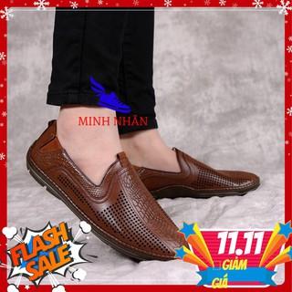 Giày lười, giày mọi mùa hè đục lỗ thoáng mát mã GH-025 [ đen, nâu] thumbnail