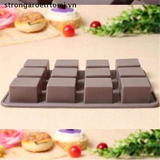 【strongaroetrtomj】 Bar Square Soap Silicone Mold DIY Chocolate Baking Cake Handmade Tool Mould VN
