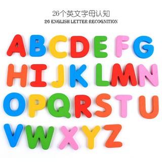 Bộ chữ cái gỗ + thẻ học cho bé