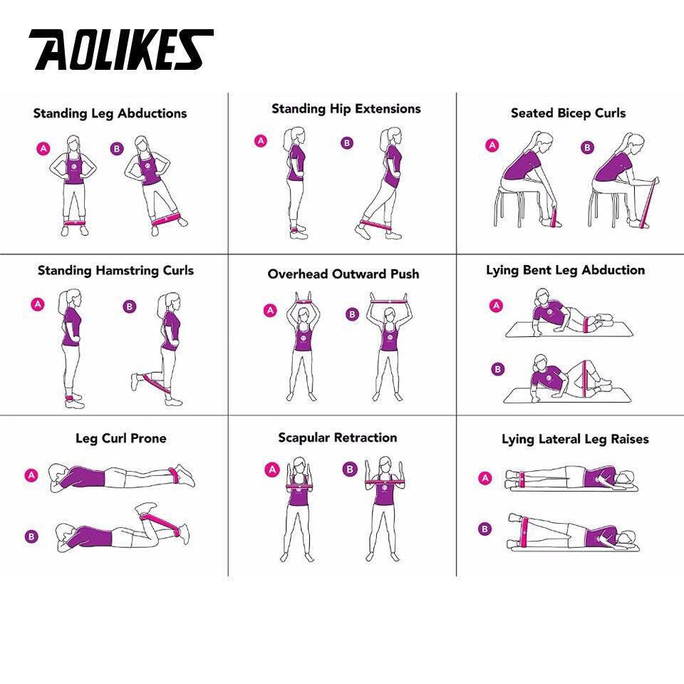 Dây mini Band Lẻ Dây cao su kháng lực Aolikes tập chân mông Phụ Kiện Tập Gym AL 3601