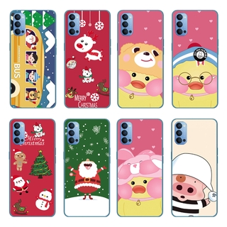 Cartoon Little Duck Silicone Back Cover OPPO Reno 5 Pro 5G/Find X3 Pro A55 A93 A15 A15S Soft TPU Case Shockproof