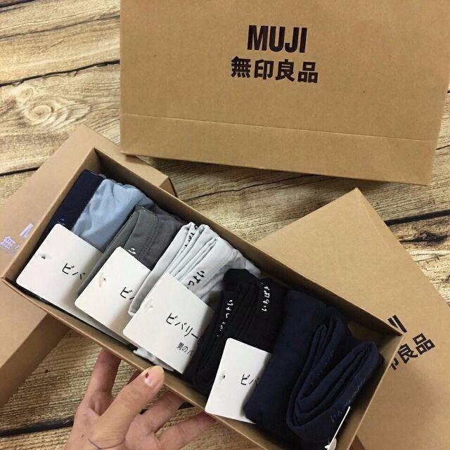 RẺ VÔ ĐỊCH -Hộp 5 quần lót đùi Nam Muji xuất Nhật