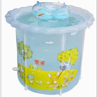 Bể bơi thành cao 70×70 kèm bơm và phao cổ