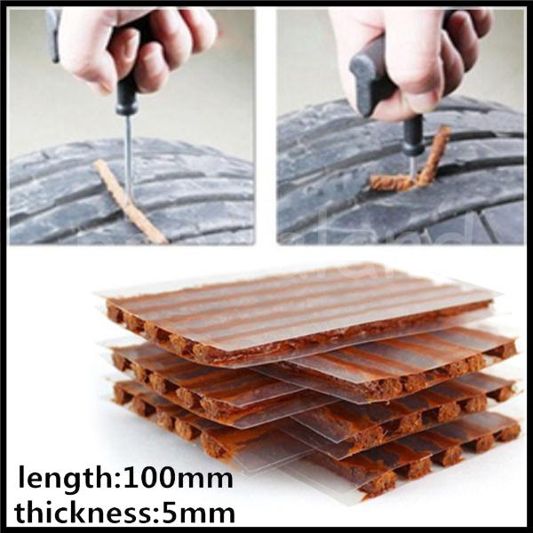 Universal Self-Adhesive Rubber Strip Recovery Kit Tire Puncture 10PCS Seal Strip Hard Wearing Car Accessories