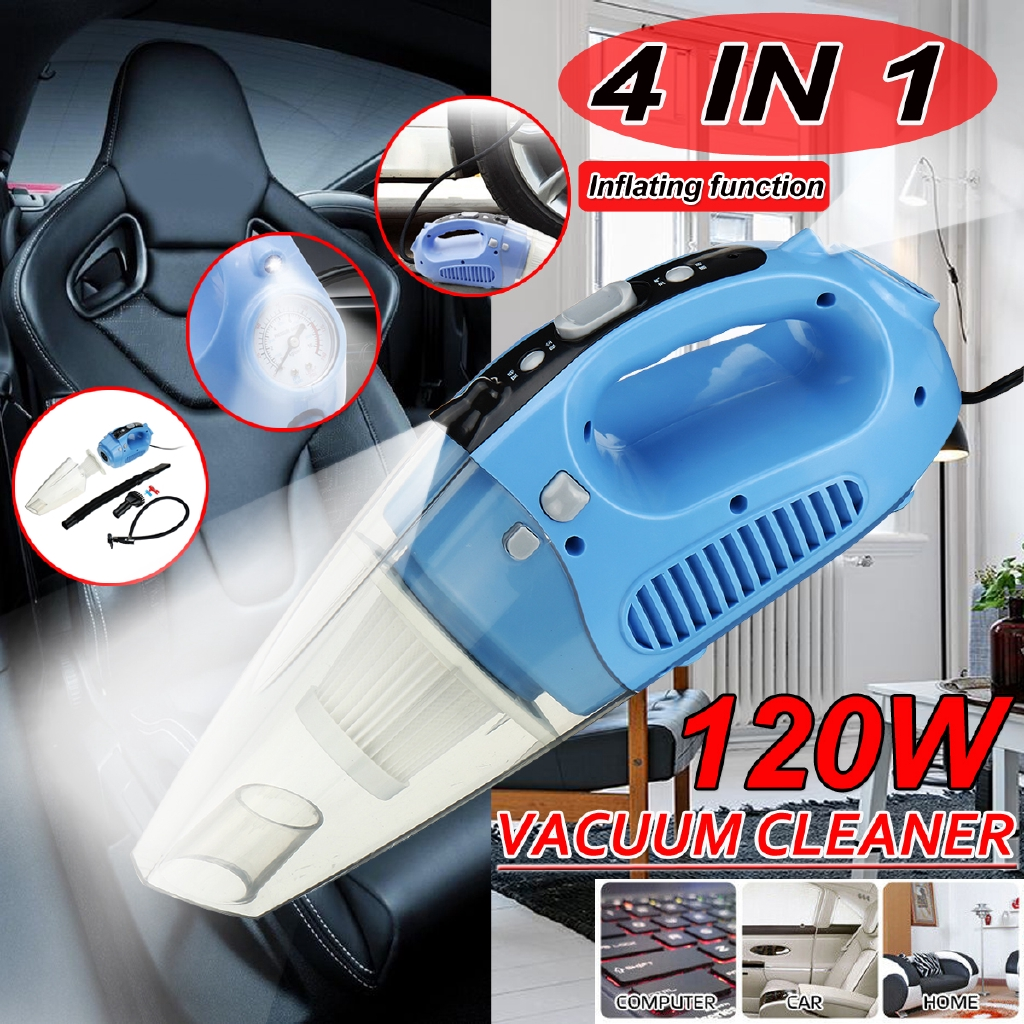 Rechargeable Car Vacuum Cleaner For Auto Mini Portable Wet Dry Handheld Duster