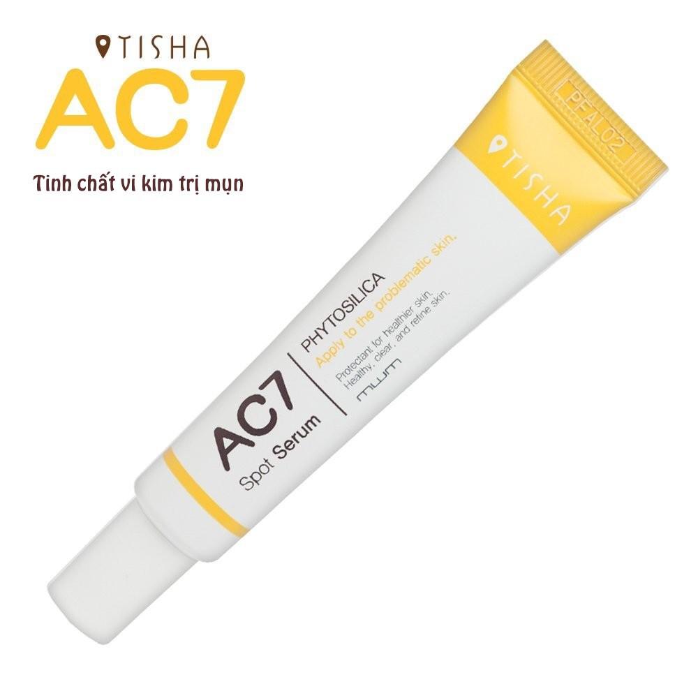 Serum Siêu Vi Kim Loại Bỏ Ngăn Ngừa Mụn Tisha AC7 (15ml)