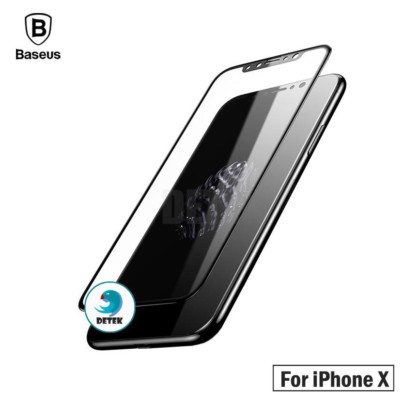 Miếng dán cường lực Baseus IPhone X cao cấp viền đen