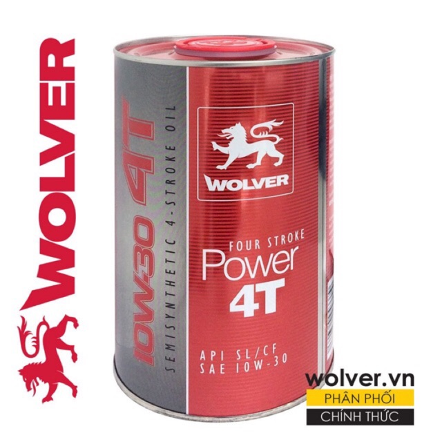 Nhớt Wolver Racing Synthetic 4T 10w40