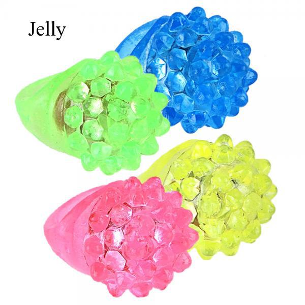 20 pcs LED Flashing Jelly Rings Light up Toy Ring for Raves Costumes Random J494