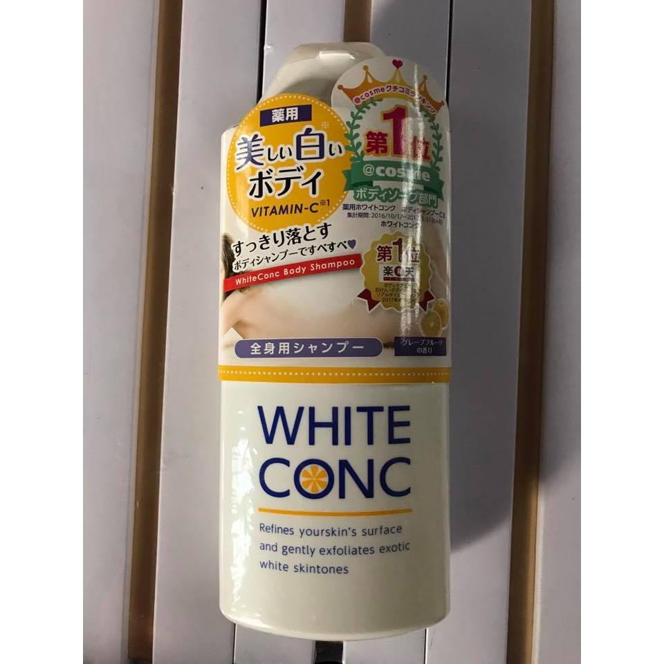 Sữa tắm trắng da toàn thân White Conc Body 360ml của Nhật Bản - 2654655 , 1016521083 , 322_1016521083 , 460000 , Sua-tam-trang-da-toan-than-White-Conc-Body-360ml-cua-Nhat-Ban-322_1016521083 , shopee.vn , Sữa tắm trắng da toàn thân White Conc Body 360ml của Nhật Bản