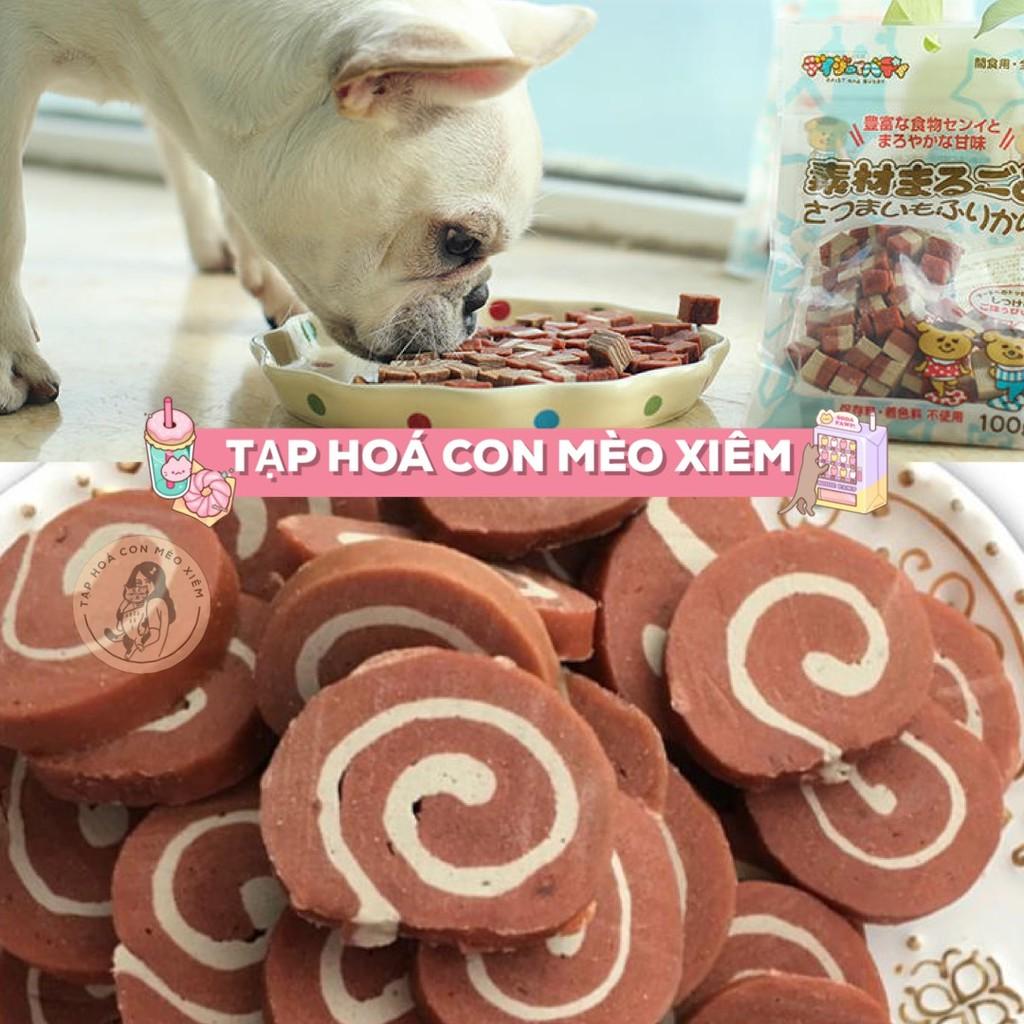 Bánh thưởng Viên Sushi thịt bò cuộn cho thú cưng chó 100gr - Đồ ăn huấn luyện thú cưng không chất phụ gia