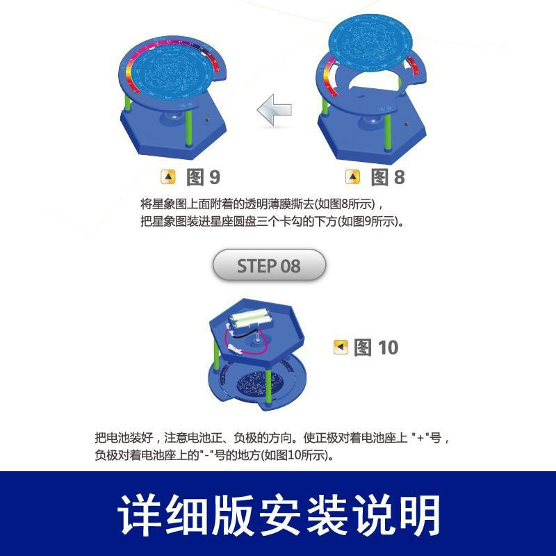 【happylife】Stem children's scientific experiment equipment science and technology pupils make physical circuit diy educational toys constellation meter