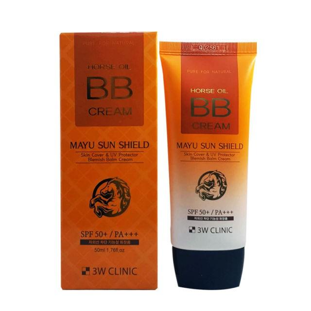 Kem nền BB Cream Horse Oil 3W Clinic Mayu Sun Shield SPF50 50ml