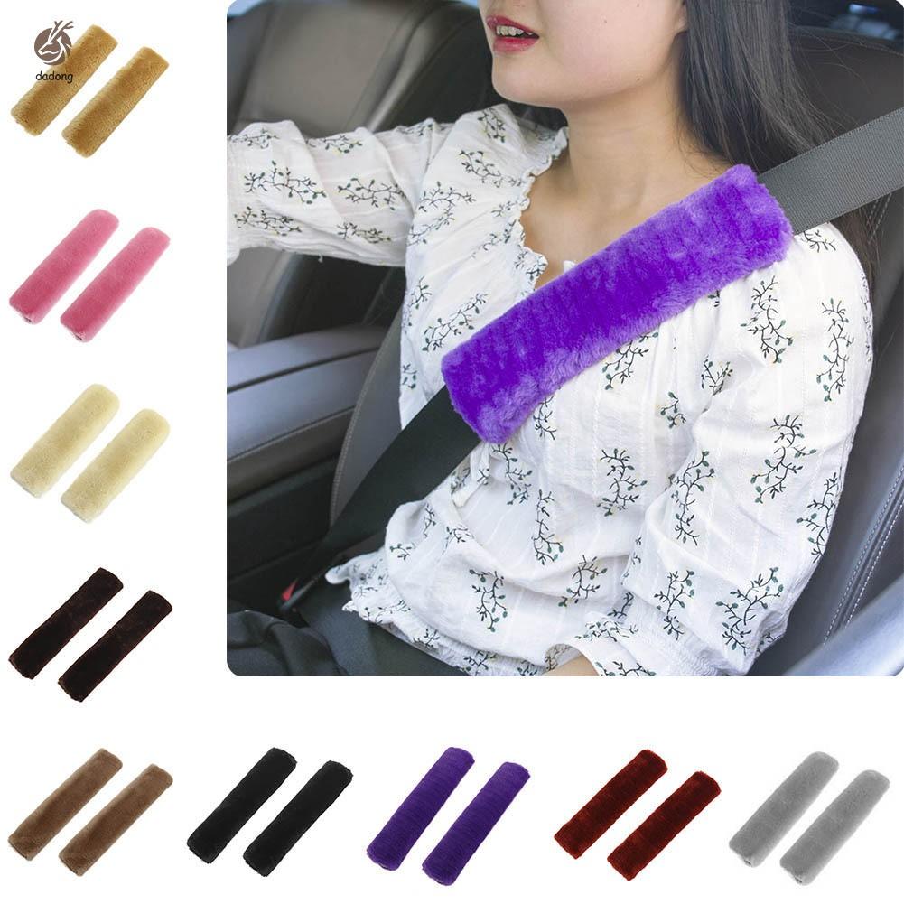 2 Pcs/Set Car Seatbelt Shoulder Pad Comfortable Driving Seat Belt Vehicle Soft Plush Auto Seatbelt S