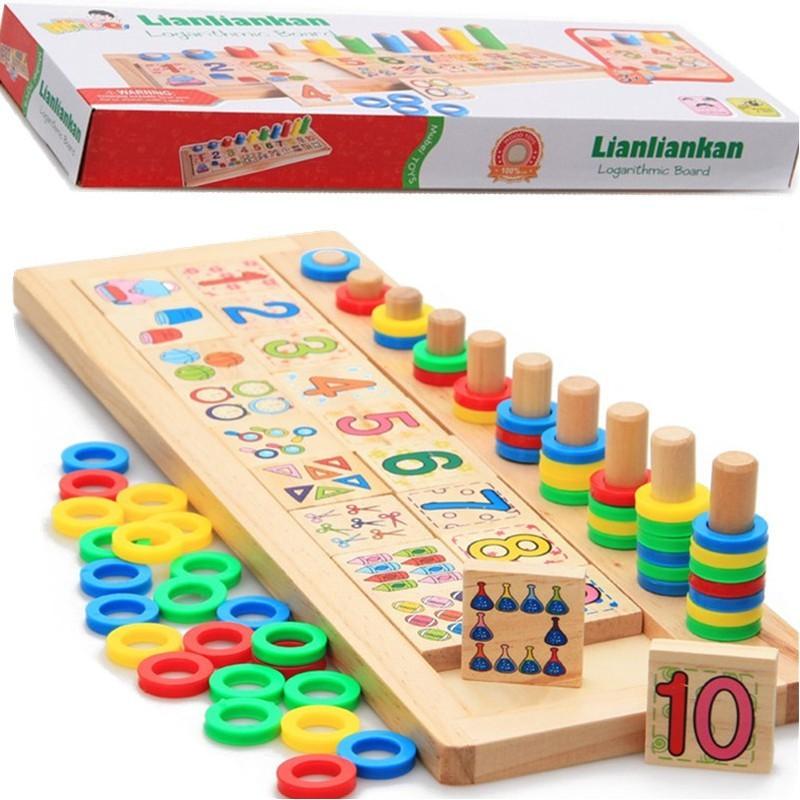 Bảng Số Montessori Đồ Chơi Giáo Dục Phát Triển Trí Tuệ Cho Bé