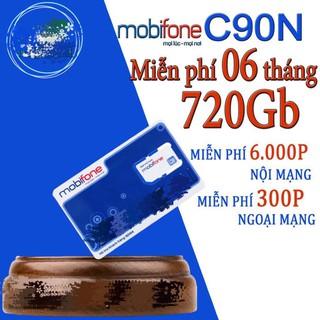 SIM MOBI 4G C90N TRỌN GÓI 6 THÁNG KHÔNG CẦN NẠP TIỀN KM 4GB/NGÀY
