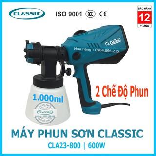 Máy Phun Sơn Mini cầm tay CLASSIC CLA23-800 Công suất 600W-2 Chế độ phun