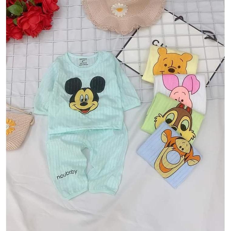Bộ quần áo trẻ em dài tay hoạt hình cho bé sơ sinh tới 14kg (HN 579)